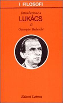 Introduzione a Lukács - Giuseppe Bedeschi - copertina