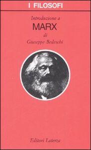 Libro Introduzione a Marx Giuseppe Bedeschi