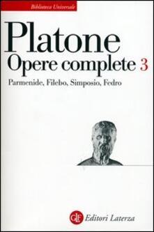 Nicocaradonna.it Opere complete. Vol. 3: ParmenideFileboSimposioFedro. Image