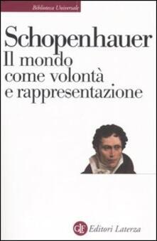 Il mondo come volontà e rappresentazione - Arthur Schopenhauer - copertina