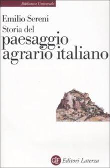 Storia del paesaggio agrario italiano - Emilio Sereni - copertina