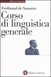 Corso di linguistica generale - Ferdinand de Saussure - copertina
