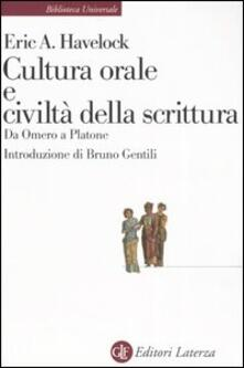 Fondazionesergioperlamusica.it Cultura orale e civiltà della scrittura. Da Omero a Platone Image