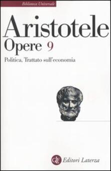 Associazionelabirinto.it Opere. Vol. 9: Politica-Trattato sull'economia. Image
