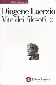 Foto Cover di Vite dei filosofi. Vol. 2: Libri 8-10., Libro di Diogene Laerzio, edito da Laterza