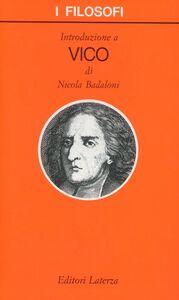 Libro Introduzione a Vico Nicola Badaloni