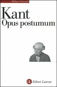 Libro Opus postumum Immanuel Kant