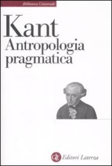 Antropologia pragmatica - Immanuel Kant - copertina