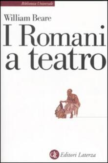 I romani a teatro - William Beare - copertina