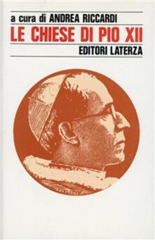 Le chiese di Pio XII - copertina
