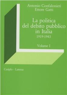 Antondemarirreguera.es La politica del debito pubblico in Italia (1919-1943) Image