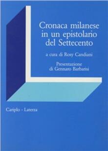 Amatigota.it Cronaca milanese di un epistolario del Settecento Image