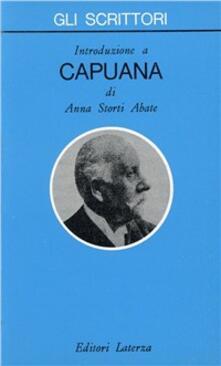 Introduzione a Capuana - Anna Storti Abate - copertina