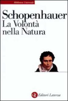 La volontà nella natura - Arthur Schopenhauer - copertina