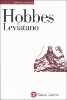 Leviatano o la materia, la forma e il potere di uno Stato ecclesiastico e civile - Thomas Hobbes - copertina