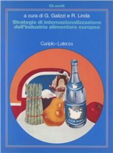 Strategie di internazionalizzazione dell'industria alimentare europea - copertina