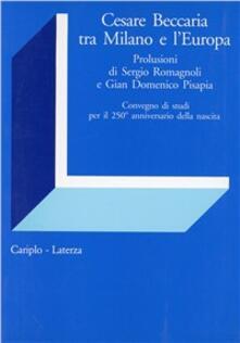 Cesare Beccaria tra Milano e l'Europa - copertina