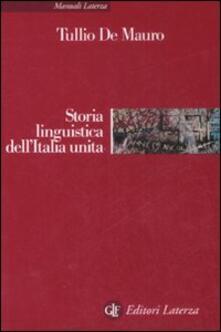 Storia linguistica dell'Italia unita - Tullio De Mauro - copertina