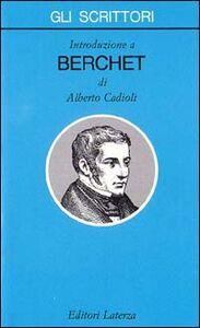 Libro Introduzione a Berchet Alberto Cadioli