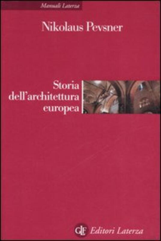 Storia dell'architettura europea - Nikolaus Pevsner - copertina