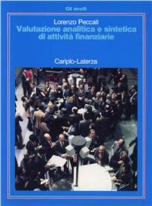 Valutazione analitica e sintetica di attività finanziarie - Lorenzo Peccati - copertina