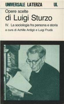 Radiospeed.it Opere scelte. Vol. 4: La sociologia fra persona e storia. Image