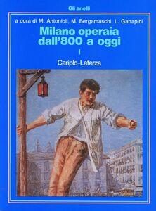 Libro Milano operaia
