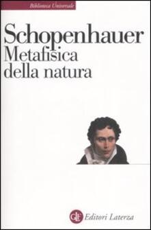 Metafisica della natura - Arthur Schopenhauer - copertina