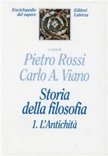 Storia della filosofia. Vol. 1: L'Antichità. - copertina