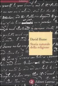 Libro Storia naturale della religione David Hume