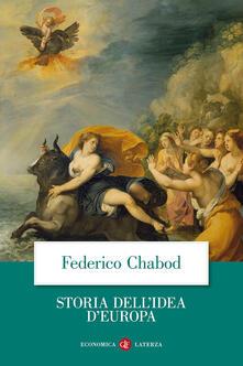 Storia dell'idea d'Europa - Federico Chabod - copertina