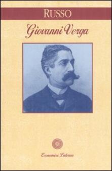 Giovanni Verga - Luigi Russo - copertina