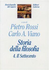 Foto Cover di Storia della filosofia. Vol. 4: Il Settecento., Libro di  edito da Laterza