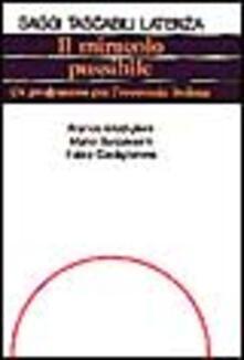 Winniearcher.com Il miracolo possibile. Un programma per l'economia italiana Image