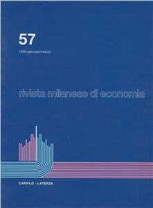 Libro Rivista milanese di economia. Vol. 57