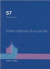 Rivista milanese di economia. Vol. 57
