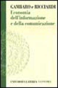 Economia dell'informazione e della comunicazione