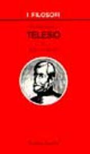 Foto Cover di Introduzione a Telesio, Libro di Roberto Bondì, edito da Laterza