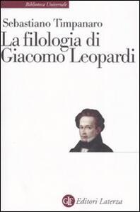 La filologia di Giacomo Leopardi