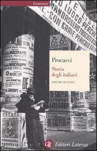 Foto Cover di Storia degli italiani. Vol. 2, Libro di Giuliano Procacci, edito da Laterza