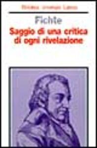 Libro Saggio di una critica di ogni rivelazione J. Gottlieb Fichte