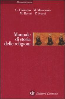 Manuale di storia delle religioni - copertina
