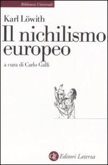 Criticalwinenotav.it Il nichilismo europeo Image