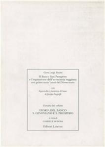 Libro Il banco di San Prospero