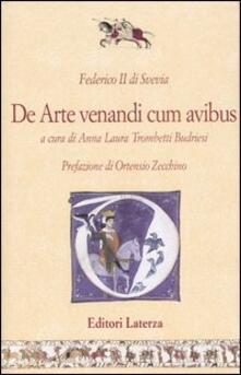 De arte venandi cum avibus. Testo latino a fronte - Federico II - copertina