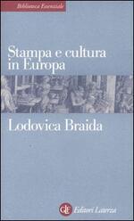 Stampa e cultura in Europa tra XV e XVI secolo