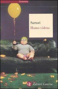 Libro Homo videns. Televisione e post-pensiero Giovanni Sartori