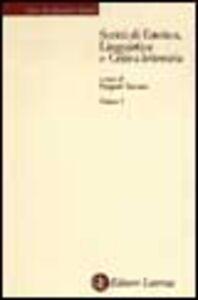 Foto Cover di Scritti di estetica, linguistica e critica letteraria. Vol. 1: Estetica., Libro di Vincenzo Padula, edito da Laterza