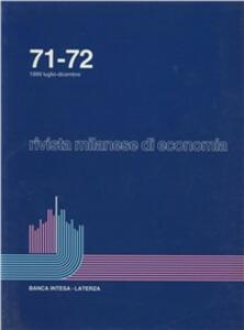 Rivista milanese di economia. Vol. 71-72