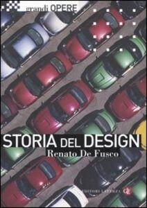 Libro Storia del design Renato De Fusco
